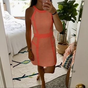 MILLY Neon Couture Piped Dress